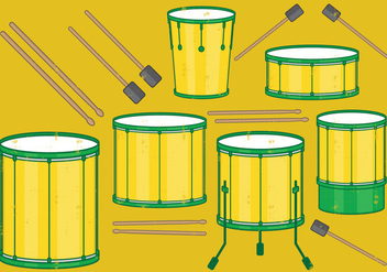 Samba Batucada Drums Set - Kostenloses vector #392781