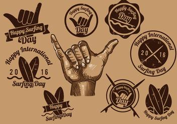 Shaka Vintage Label - vector gratuit #392791