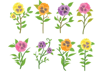 Free Pansy Icons Vector - Free vector #392901