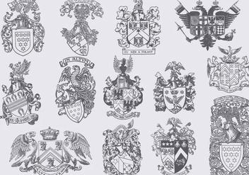 Heraldic Eagles - Kostenloses vector #392911