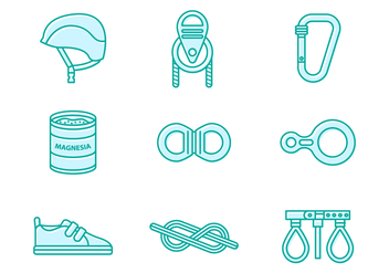 Free Climbing Wall Tools Icon - Free vector #392971