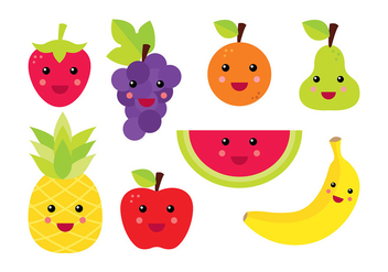 Fruit Fridge Magnet Vector - vector gratuit #393021