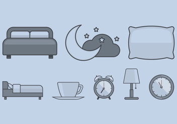 Bed Time Icon - vector #393061 gratis