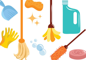 Free Cleaning Vectors - Free vector #393091