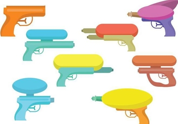 Free Water Gun Vector Set - Kostenloses vector #393101
