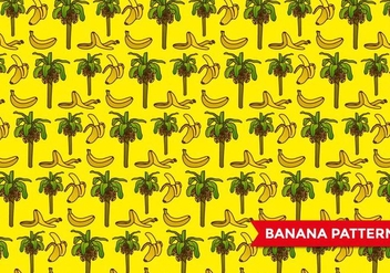 Banana Tree Pattern - vector gratuit #393211