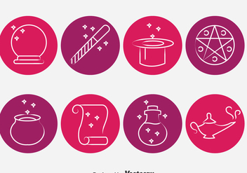 Magic Tools Circle Icons Vector - vector #393241 gratis
