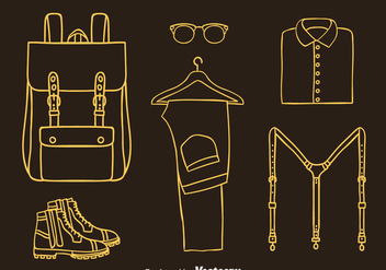 Man Accessories Line Icons Vector - Free vector #393431