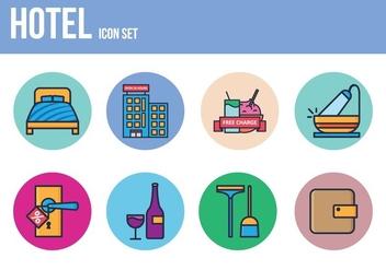 Free Hotel Icon Set - vector gratuit #393451