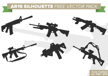 AR15 Silhouettes Free Vector Pack - Free vector #393571