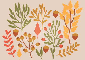 Vector Autumn Leaves - vector #393621 gratis