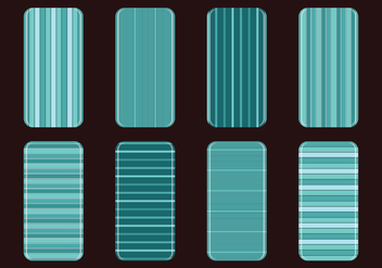 Teal Phone Case Striped Vectors - Kostenloses vector #393631