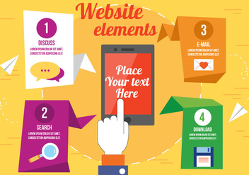 Free Vector Website Elements - бесплатный vector #393821