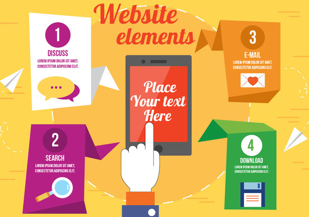Free Vector Website Elements - Free vector #393821
