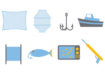 Fishing Vector Set - Kostenloses vector #393941