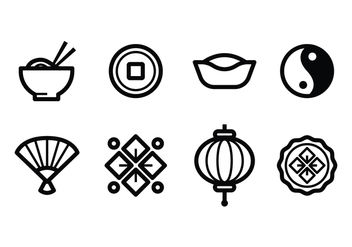Free Chinese Icon Set - vector gratuit #393971