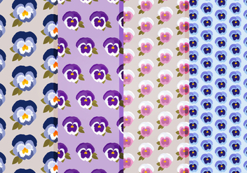 Pansies Vector Patterns - Free vector #393981