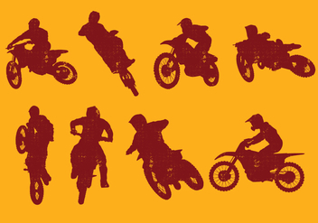 Dirt Bikes Silhouette - vector #394011 gratis