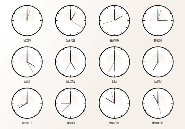 World Wide Timezone - vector #394051 gratis