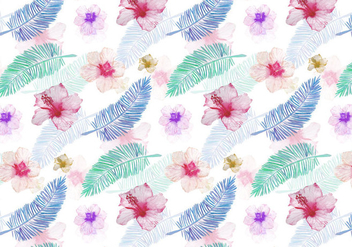 Vector Summer Seamless Leaf Pattern - vector gratuit #394141