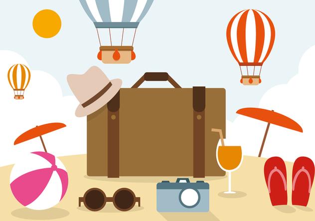 Free Travel Vector Illustration - Free vector #394301