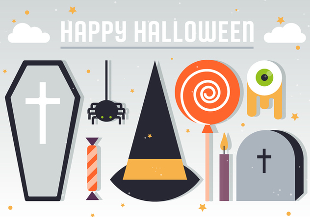 Halloween Elements Vector Illustration - Free vector #394371