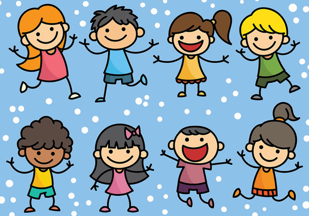 Free Childrens Day Icons Vector - Free vector #394381
