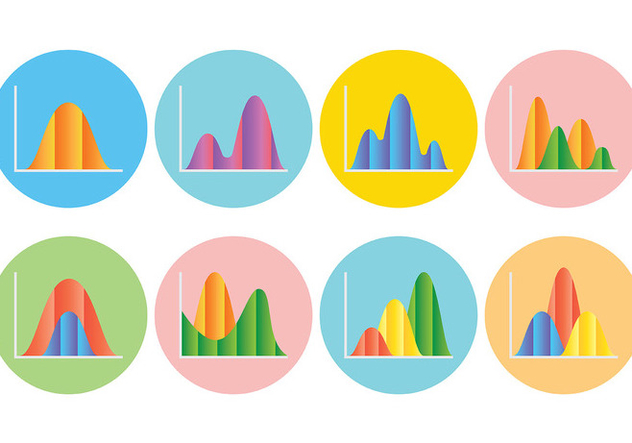Free Bell Curve Icons Vector - Free vector #394471