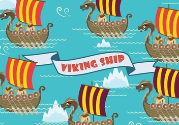 Free Viking Ship Illustration - бесплатный vector #394521