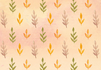 Free Vector Watercolor Leaves Pattern - бесплатный vector #394531