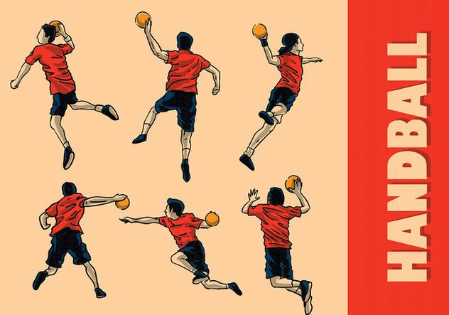 Handball Vector - Free vector #394551