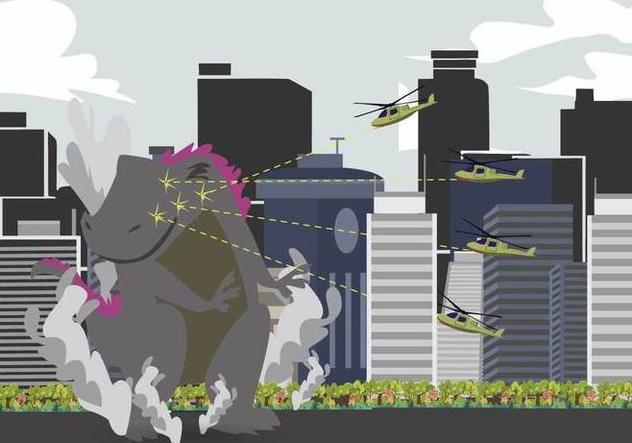 Free Godzilla Illustration - Free vector #394601