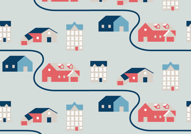 House Illustration Pattern - Free vector #394611