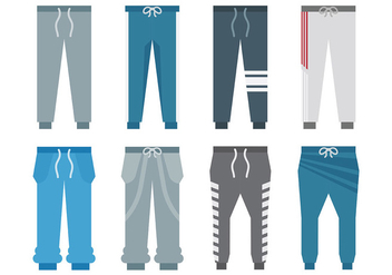 Free Sweatpants Icons Vector - Free vector #394641