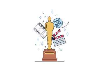 Free Oscar Statue Vector - vector gratuit #394661