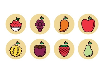 Free Fruit Icons - бесплатный vector #394701