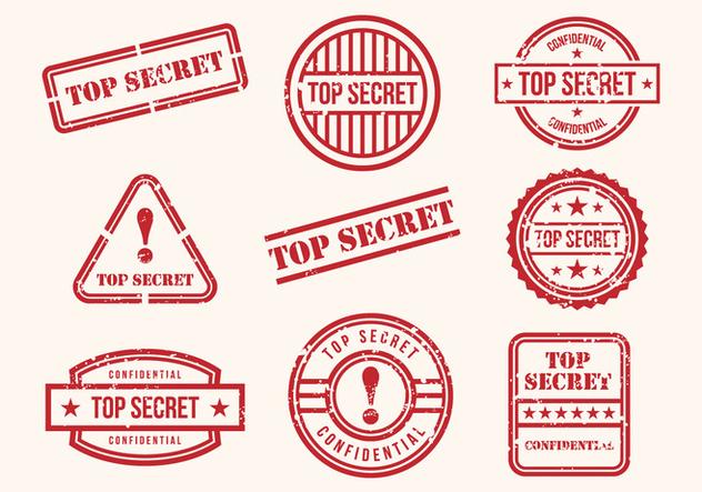 Free Top Secret Stamps Vector - Free vector #394721