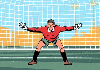 Goal Keeper Standing Vector - vector gratuit(e) #394881