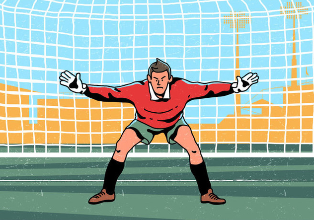 Goal Keeper Standing Vector - Free vector #394881