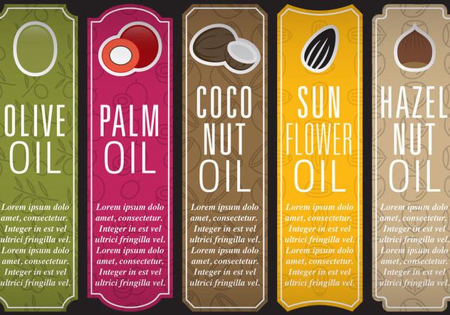 Oil Vectical Labels - Free vector #395301