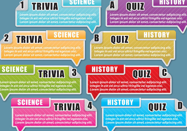 Trivia And Quiz Text Boxes - Free vector #395331