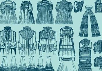 Lace Trim Clothes Set 2 - Free vector #395401