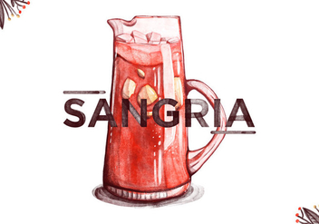 Free Sangria Watercolor Background - vector gratuit #395461