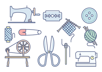 Free Sewing Vector - бесплатный vector #395561