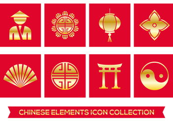 Chinese Element Icons - vector #395661 gratis