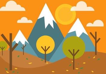 Free Vector Autumn Landscape - Kostenloses vector #395821