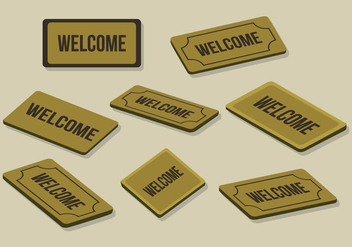 Free Welcome Mat Vector - Free vector #395871