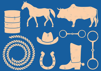 Barrel Racing Vector Icons - бесплатный vector #395881