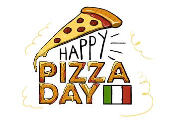 Free Pizza Day Vector - Kostenloses vector #396171