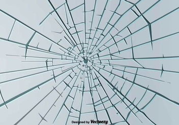 Broken Window Background Vector - Kostenloses vector #396571